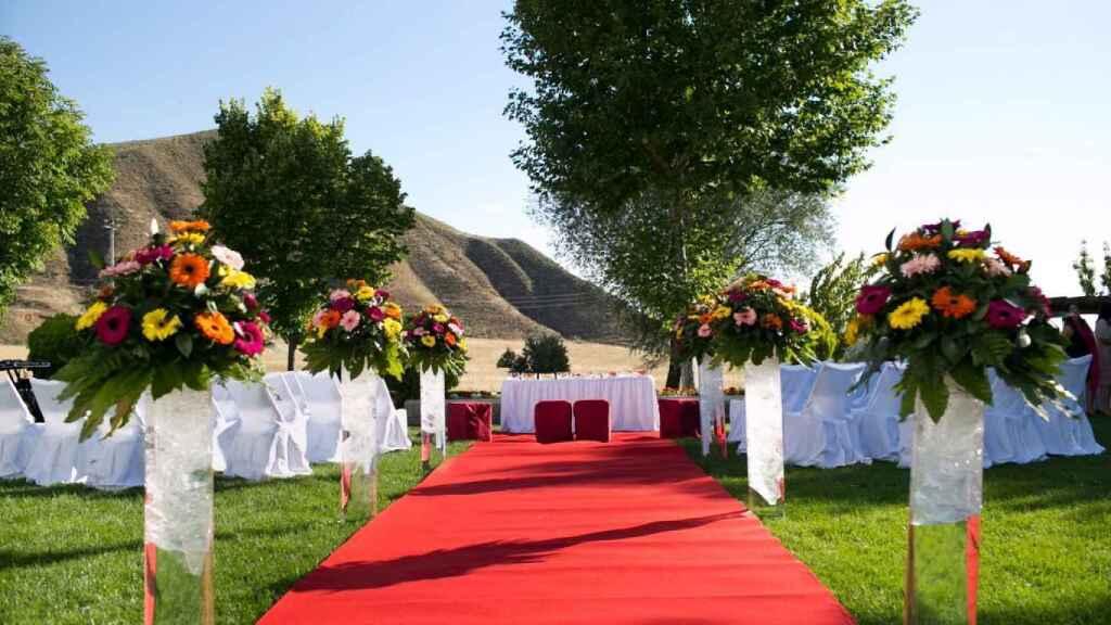 El espacio de la ceremonia y la fiesta tendrá lugar en el gran jardín de la Vega de Henares.
