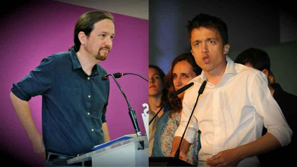 Pablo Iglesias e Íñigo Errejón, líderes de Podemos y de Más Madrid respectivamente.