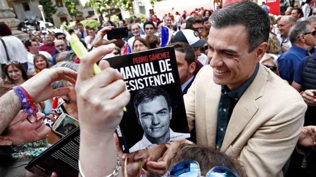El presidente del Gobierno en funciones, Pedro Sánchez, en un acto en Pamplona.