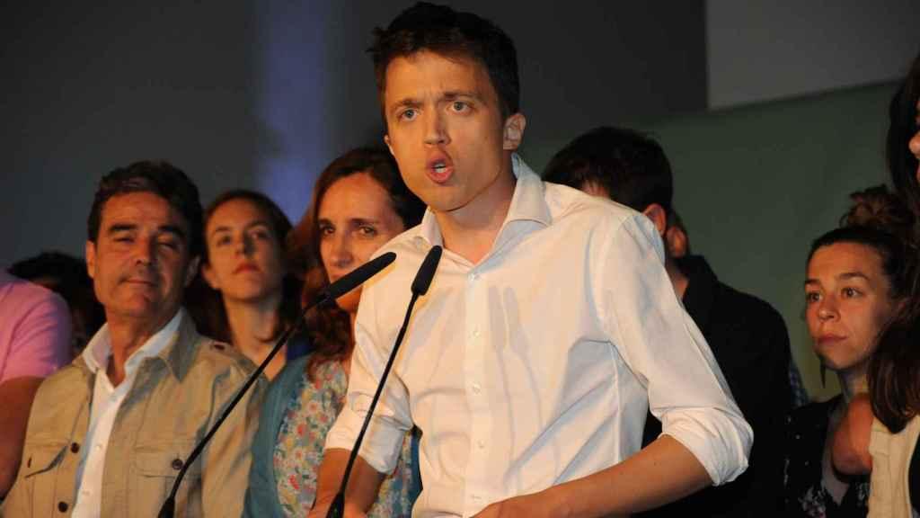 Íñigo Errejón, en la noche electoral del 26-M.
