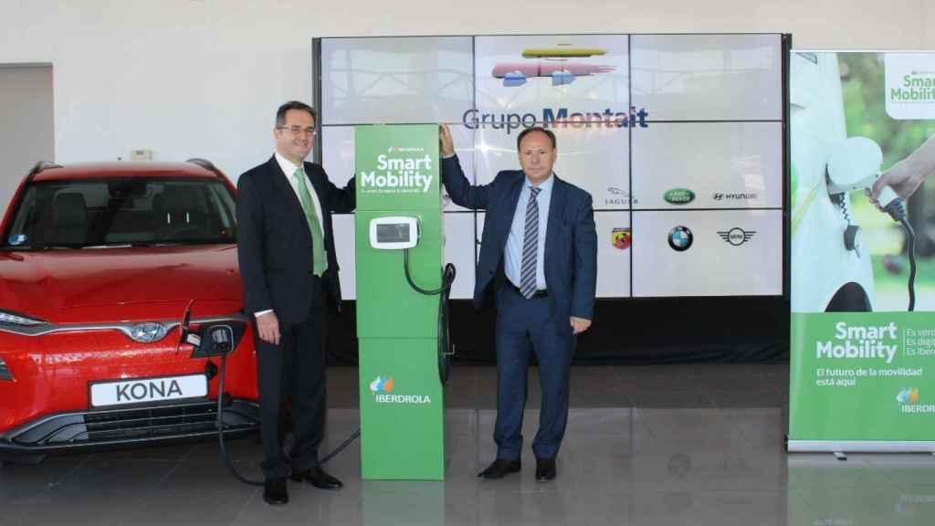De izquierJoaquín Longares, delegado comercial de Iberdrola en la Comunidad. Valenciana y Bartolomé Poyatos, director general de Grupo Montalt.