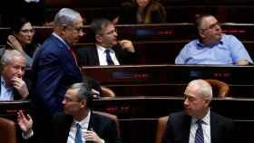 Benjamin Netanyahu en el Parlamento de Israel.