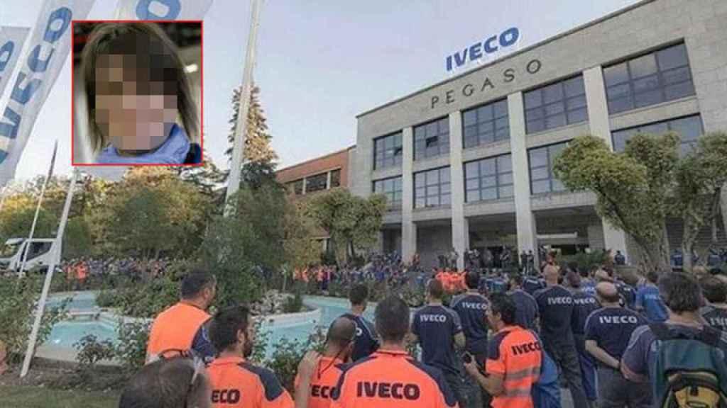 Concentración en las puertas de Iveco en repulsa de lo sucedido con el vídeo de Verónica.