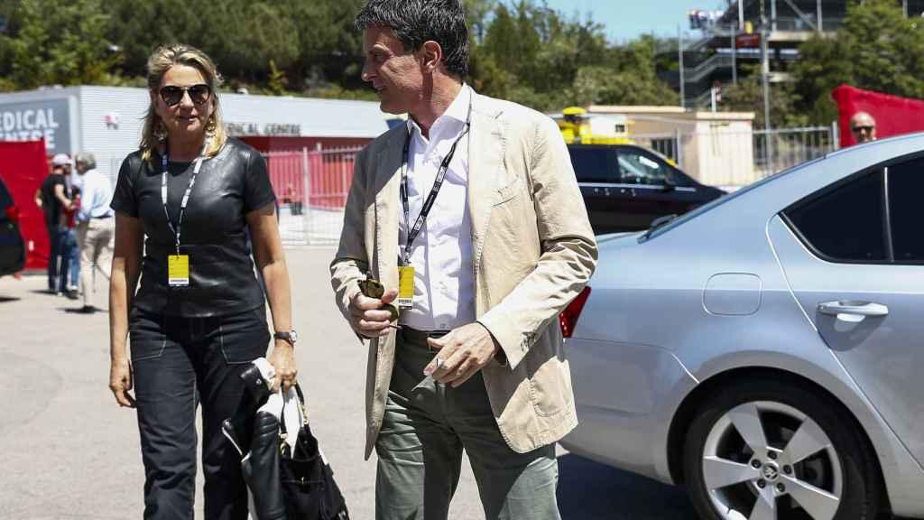Susana Gallardo y Manuel Valls durante el Gran Premio de Barcelona.