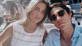 María Pombo junto a su prometido, Pablo Castellanos, en un evento reciente.