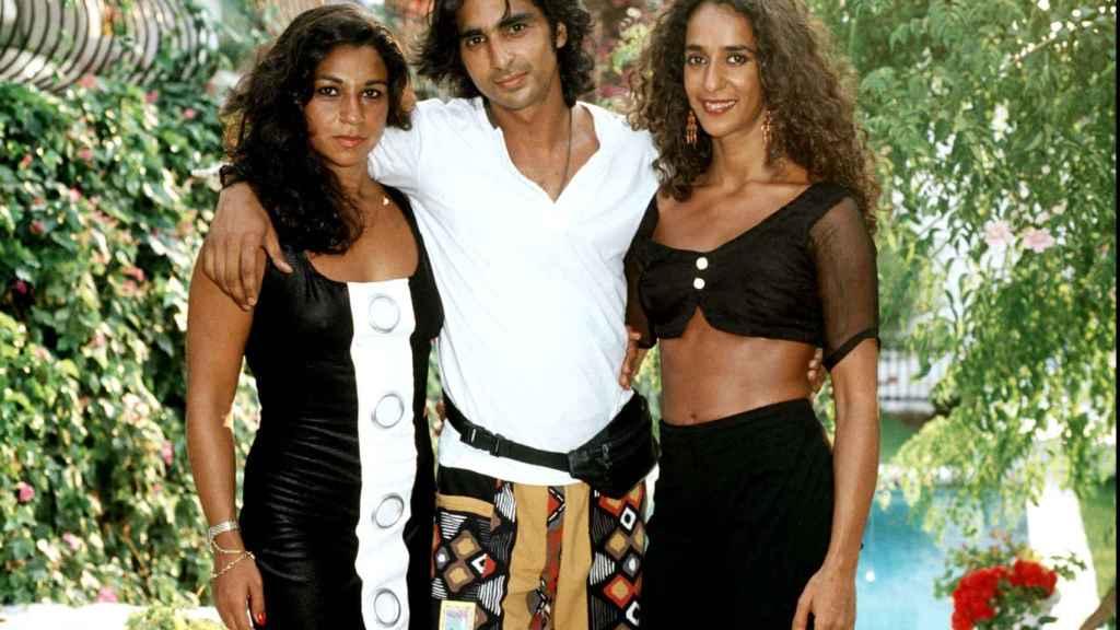 Lolita, Antonio Flores y Rosario Flores en una imagen del año 1990.