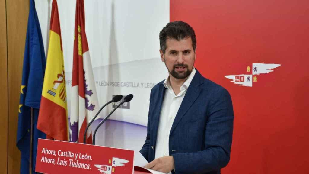Luis Tudanca, líder de los socialistas en Castilla y León, esta semana.