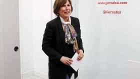 La presidenta del Gobierno de Navarra en funciones, Uxue Barkos, este jueves.
