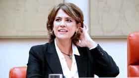 La ministra de Justicia en funciones, Dolores Delgado, en una comparecencia parlamentaria.
