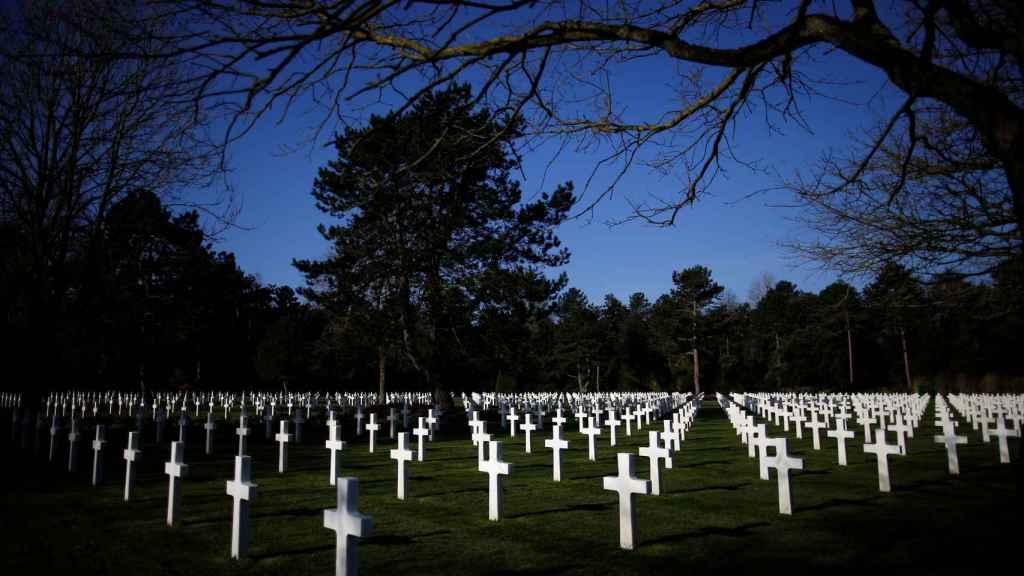 El cementerio estadounidense en Colleville, donde descansan los muertos en el Día D.