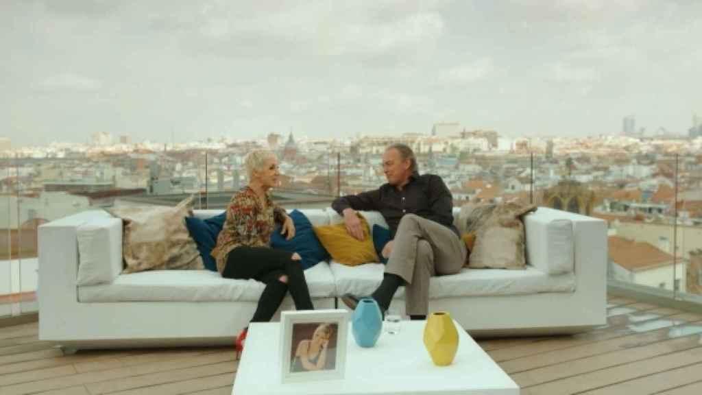 Ana Torroja y Bertín Osborne durante su entrevista en octubre de 2017.