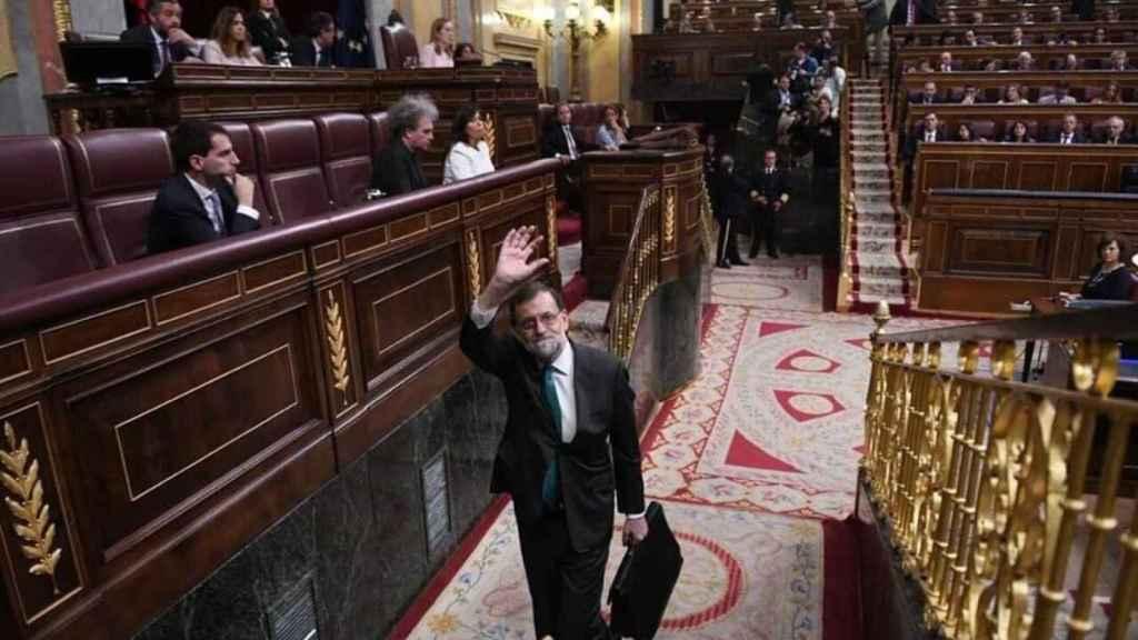 Mariano Rajoy se despide del Congreso de los Diputados tras conocerse que prosperará la moción de censura.