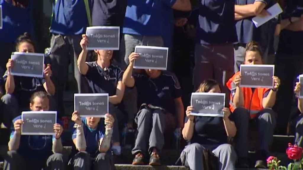 Concentración de los trabajadores de Iveco