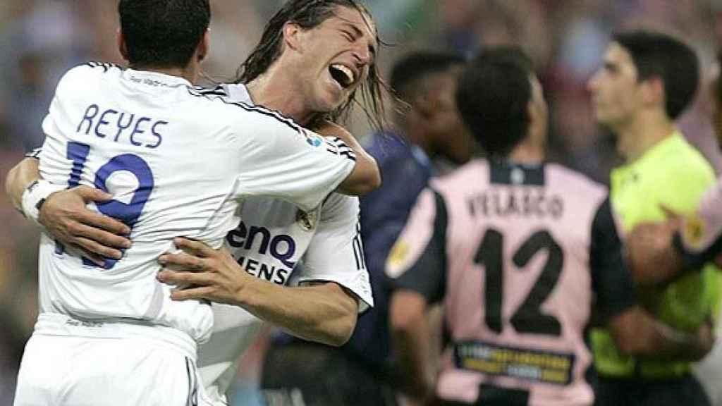 Reyes con Ramos en el Madrid.