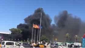 Incendio en el aeropuerto El Prat