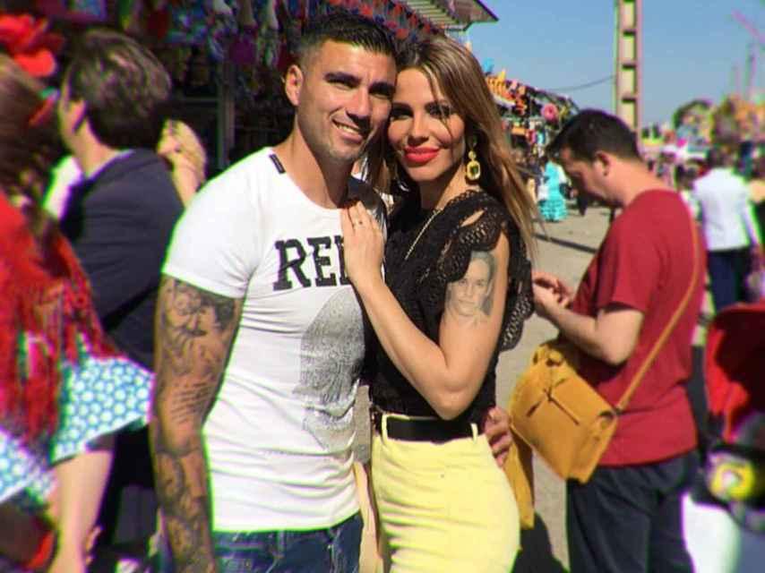Noelia López y José Antonio Reyes en una imagen de sus redes sociales.