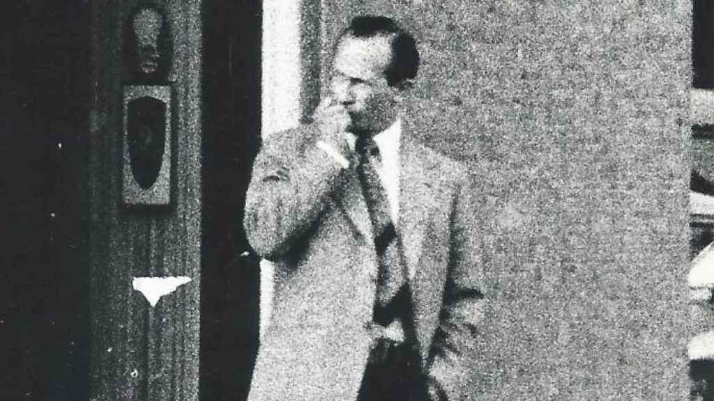 Oleg Gordievski, fotografiado en Copenhague por agentes del MI6.