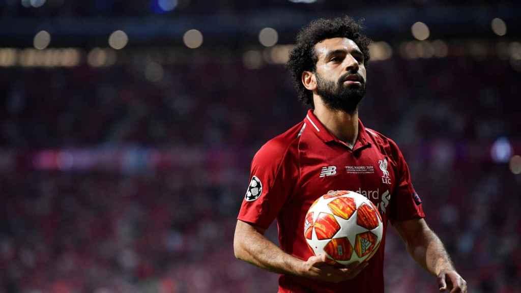 Mohamed Salah, en la final de la Champions League entre el Tottenham y el Liverpool