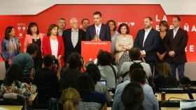 La imagen de la noche electoral del 26-M en el PSOE.