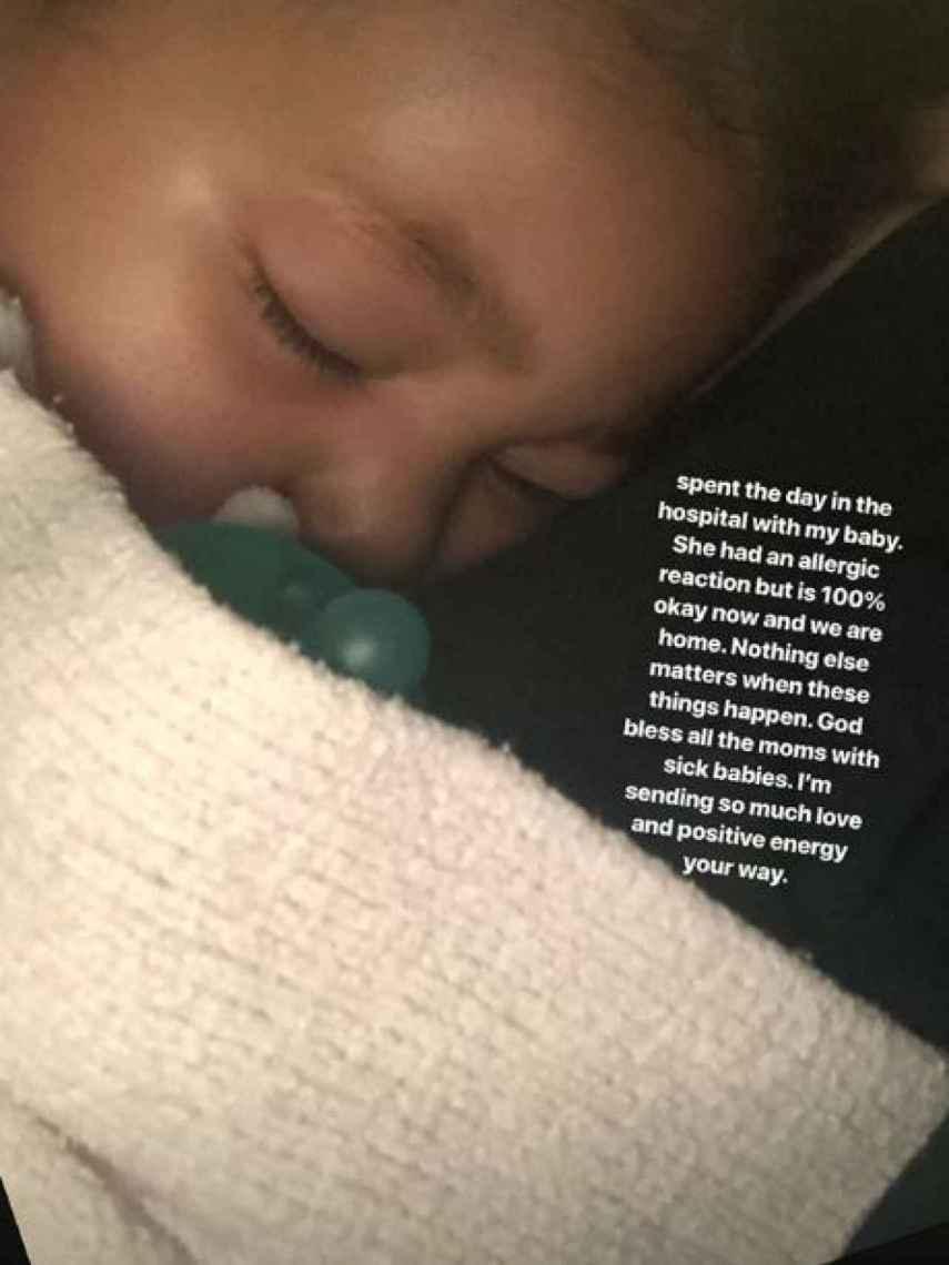 Stormi Webster en una imagen del Instagram de su madre, Kylie Jenner.