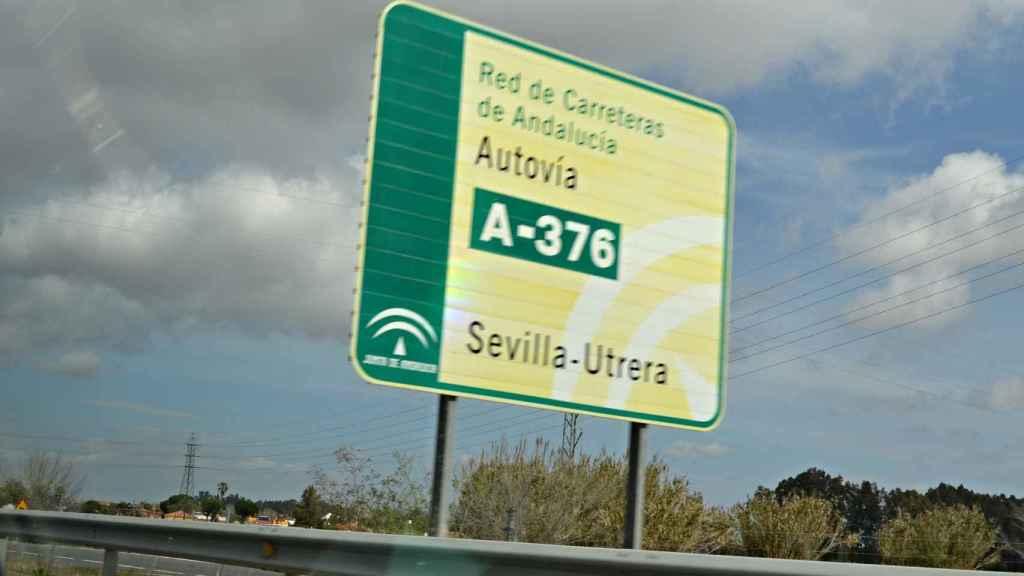 A-376 entre Sevilla y Utrera.