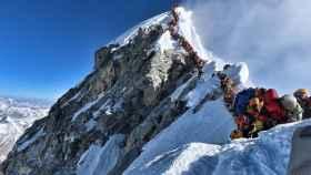 La aglomeración en el Everest, el 22 de mayo.
