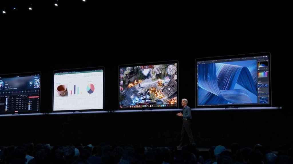 Presentación de Apple del 2019, en la que enseñó apps de iOS en macOS