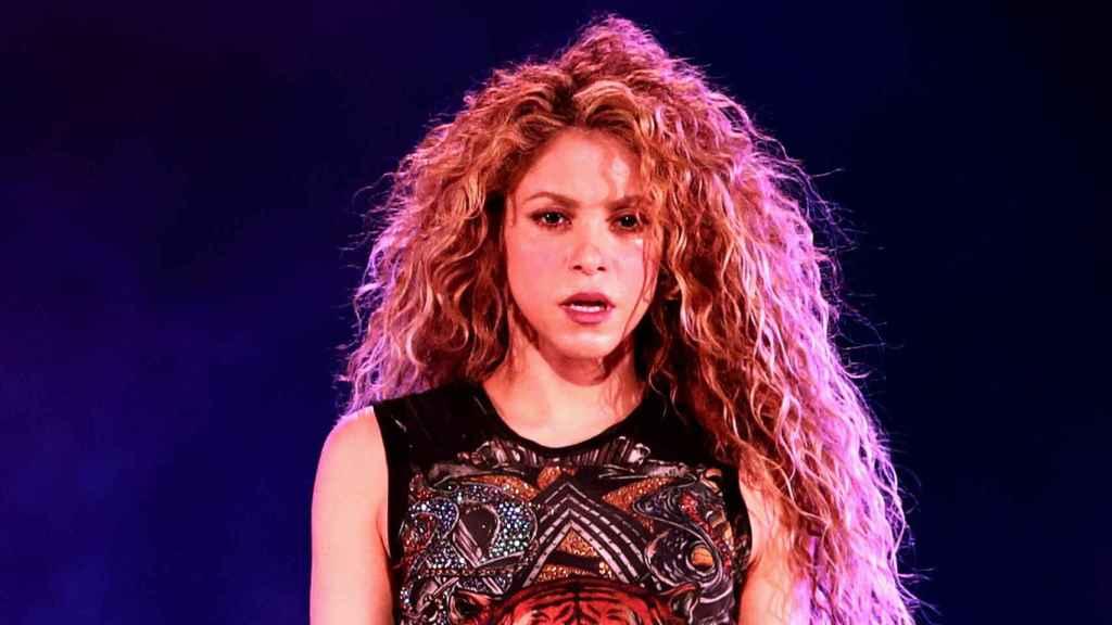 Shakira durante uno de sus conciertos.