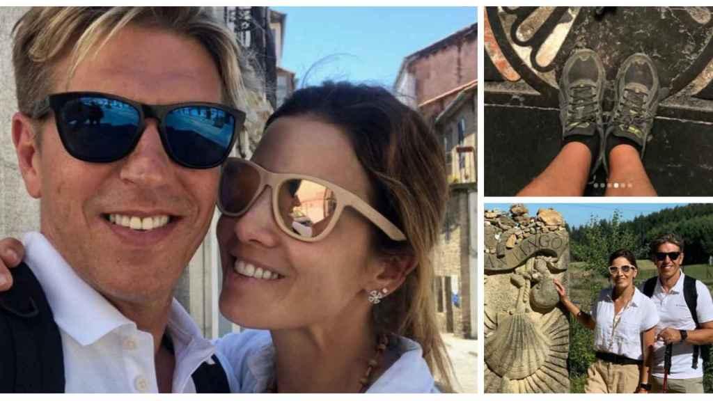 Manuel Díaz 'El Cordobés' y su mujer durante su peregrinaje en montaje JALEOS.