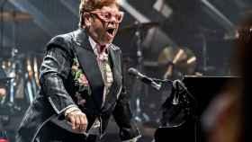 Elton John, durante un concierto en Copenga.