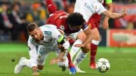 Salah en su choque con Sergio Ramos en Kiev
