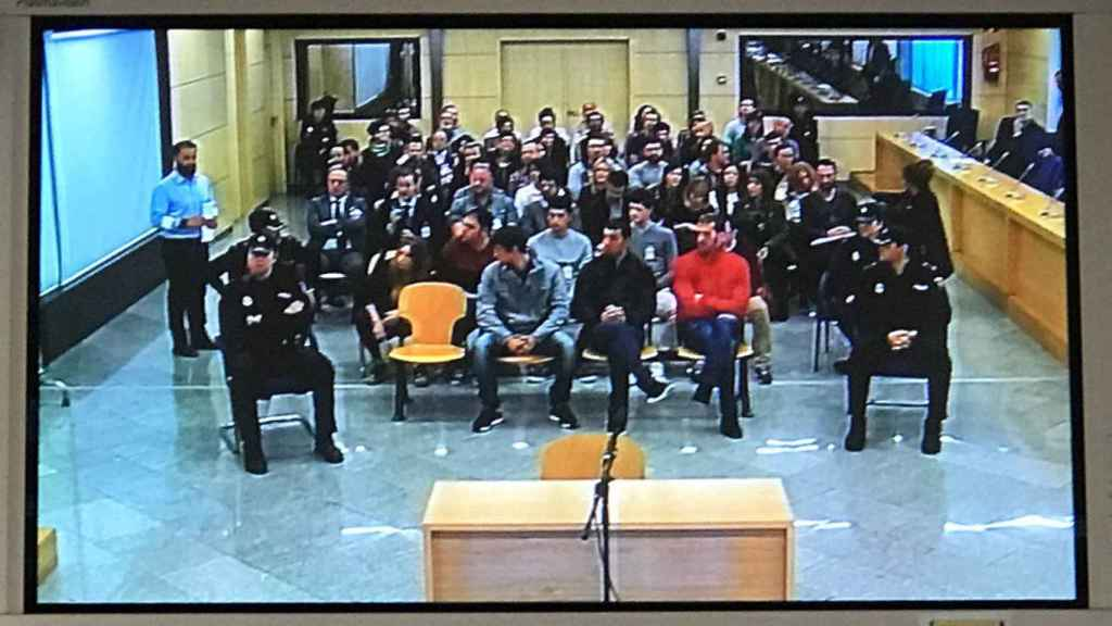 Juicio contra los acusados por pegar una paliza a dos guardias civiles y sus parejas en Alsasua (Navarra), en la Audiencia Nacional.