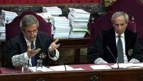 Javier Zaragoza (izqda.) y Jaime Moreno, en una sesión de la vista./
