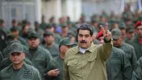 Maduro durante unos ejercicios militares en un cuartel de Caracas.