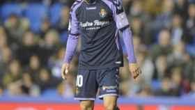 Óscar Plano, durante un partido con el Valladolid. Foto: (@oscarplano10)