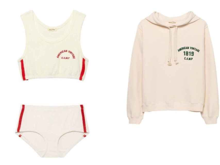 Las prendas son teñidascon un característico pigmento rosa.