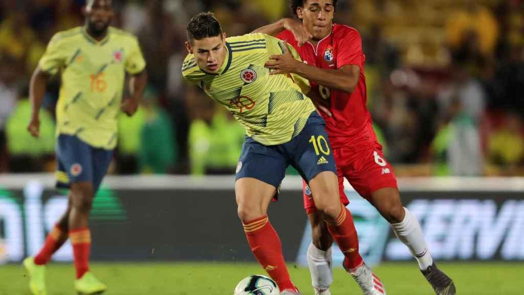 James Rodríguez, en un partido de Colombia