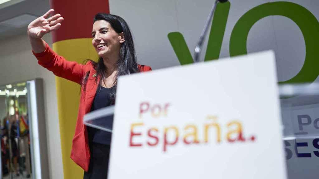 La candidata de Vox a la Comunidad de Madrid, Rocío Monasterio.