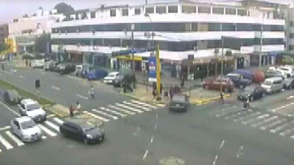 Momento del atropello captado por una cámara de vigilancia