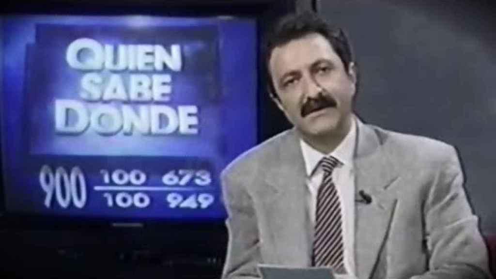 Paco Lobatón en uno de los programas de 'Quién sabe dónde'.