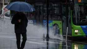 Lluvias en el País Vasco. EFE/Juan Herrero.