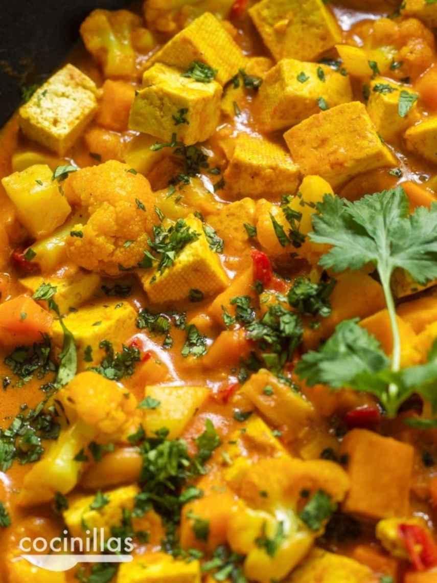 tofu al curry fácil