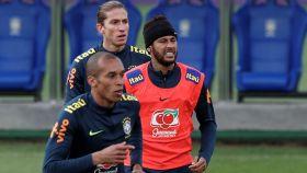 Neymar, en la concentración de Brasil