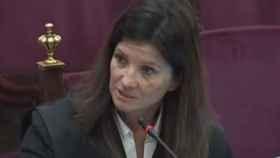 Rosa Seoane, este martes durante su intervención final./