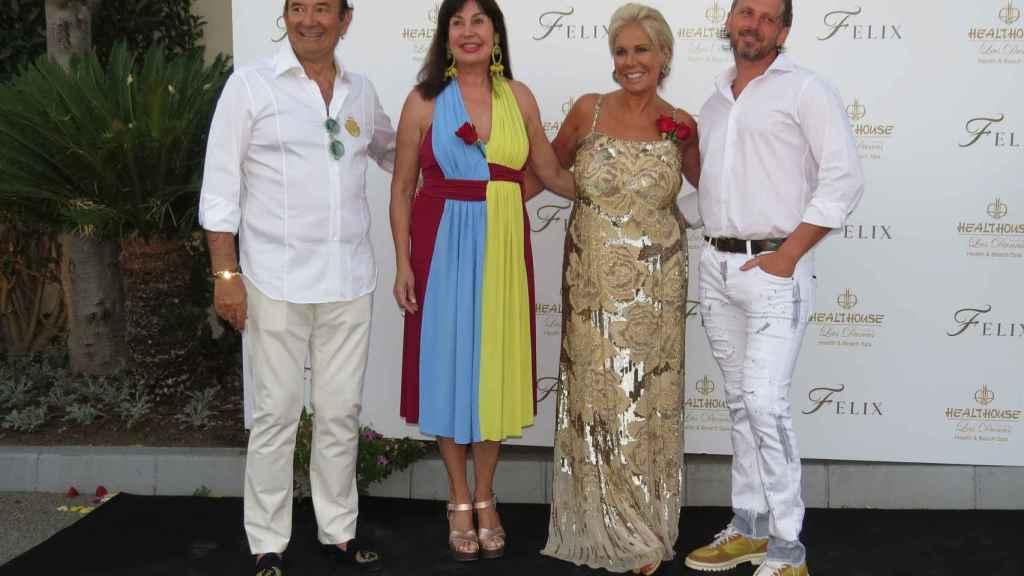 Félix Revuelta, Carmen Martínez Bordiú, Luisa Rodríguez y Timothy, en el 71 cumpleaños del empresario.