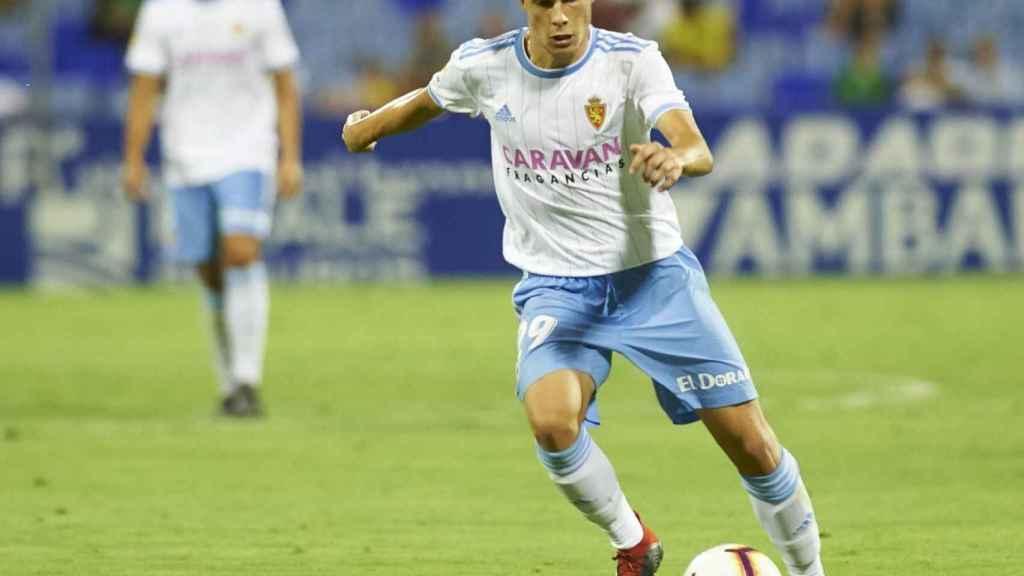 Alberto Soro con el Zaragoza.