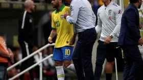 Neymar, tras lesionarse ante Catar