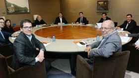 Mesa de negociación formada por PP y Ciudadanos en Castilla y León esta semana.