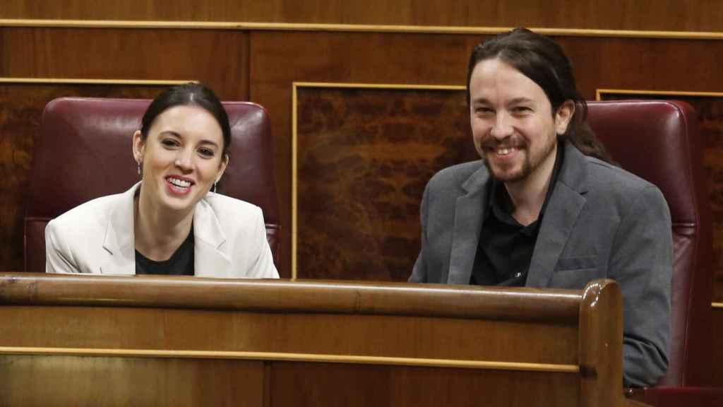 Iglesias y Montero en el Congreso de los Diputados.