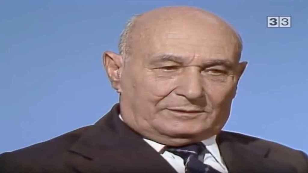 Garbo en 1984, en una entrevista a TV3.